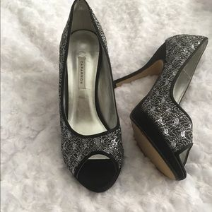 Women's high heel shoes.